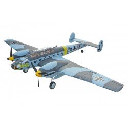 Remote Control Dynam Messerschmitt Bf110 1500Mm W/O Tx/Rx/Batt Dynam. Free FMS Polo Shirt & FMS Base ball hat