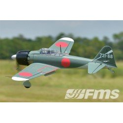 Fms Zero A6M2 W/Retracts/Flap - W/O Tx/Rx/Battery - Olive Fms