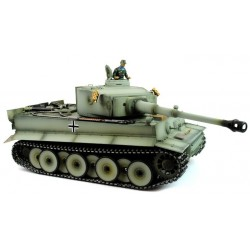 Taigen Hand Painted Rc Tank Early Version Tiger I Grey Camo - Metal Upgrade - 2.4Ghz