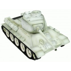 Taigen Hand Painted Rc Tank T34 T85 White Winter Camo - Full Metal - 2.4Ghz