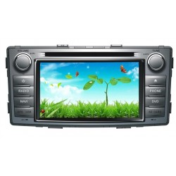 Windows Toyota Hilux Silver Metal Look Dvd Player
