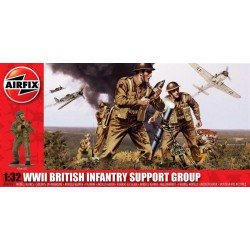 Wwii British Infantry Support Group 1/32 Dis Kit Airfix A04710