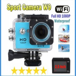Outdoor Sports Action Dash Camera With Wifi App&Apk Black Case 1080P