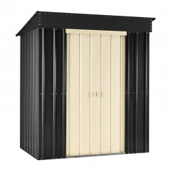 8X4 Ashlee Ciara Pent Metal Shed- Slate Grey / Cream