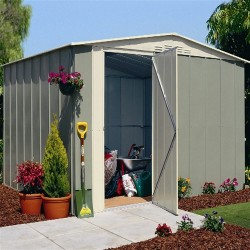 Oldfields Metal Apex Shed 10X8 With Hinged Door