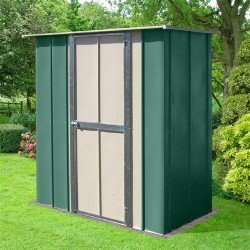 Oldfields 6X3 Metal Utility Shed With Hinged Door