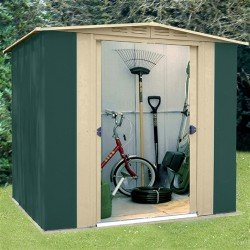 Oldfields 6X5 Metal Shed Apex Geen