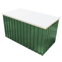 Duramax Deck Patio Box/ Green Metal Cushion Deck Storage Box Large 1.7Metres