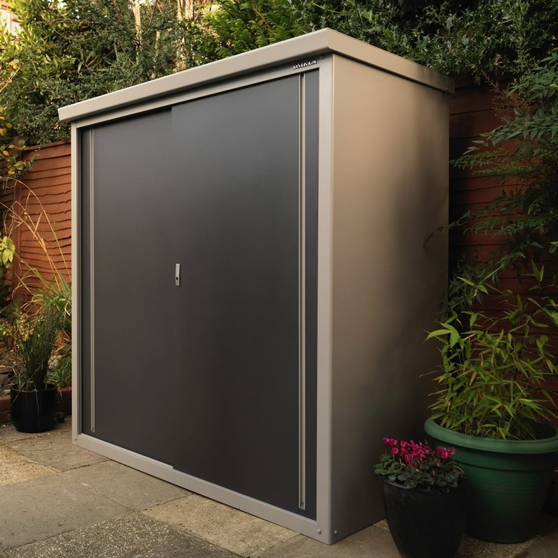 ... Trimetals Guardian D63 Shed Modern Garden Storage Cabinet With Shelving  Options ...