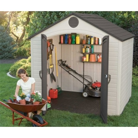Lifetime Products 8x5 Garden Shed With Floor.