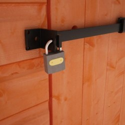 Heavy Duty Steel Security Bar And Padlock For Your Shed.