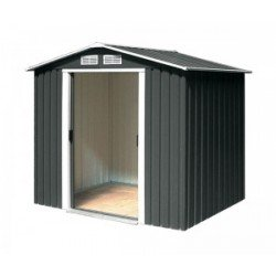 Riverton Parkdale 6X4 Metal Apex Shed Anthracite Grey