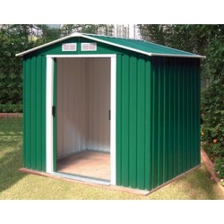 Riverton Parkdale 6X4 Metal Apex Shed Green + Free Foundation Kit