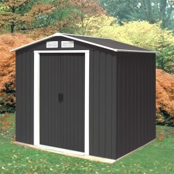 Titan Rosedale 8X6 Metal Apex Shed Anthracite