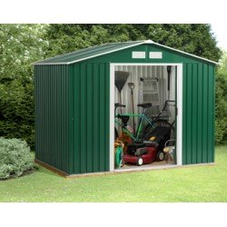 Titan Rosedale 8X6 Metal Apex Shed Green