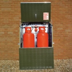 Senturion 247 Gas Cylinder Storage For Two 47Kg Tall Cylinders
