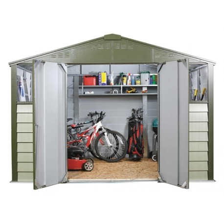 Trimetals 10X8 Metal Shed T108 .Double Doors. Heavy Metal Shed.