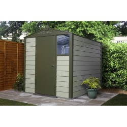 Trimetals Security Shed 6X8 T680 ,Single Door , Optional Window Panel