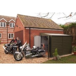 Trimetals Security Bike Pent Shed 4X9 T940 With 2 Doors And No Windows