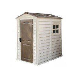 Duramax Woodside Vinyl 4X6 Shed With Floor