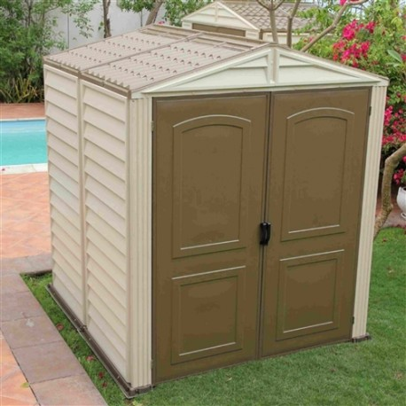 Duramax Woodside Vinyl 6X6 Shed With Floor