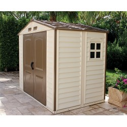 Duramax Woodside Vinyl 8X6 Shed With Floor. Out Of Stock