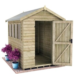 Elite 6X8 16Mm Heavy Pressure-Treated Apex Shed