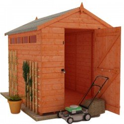 6X8 Security Apex Shed With Security Bar.