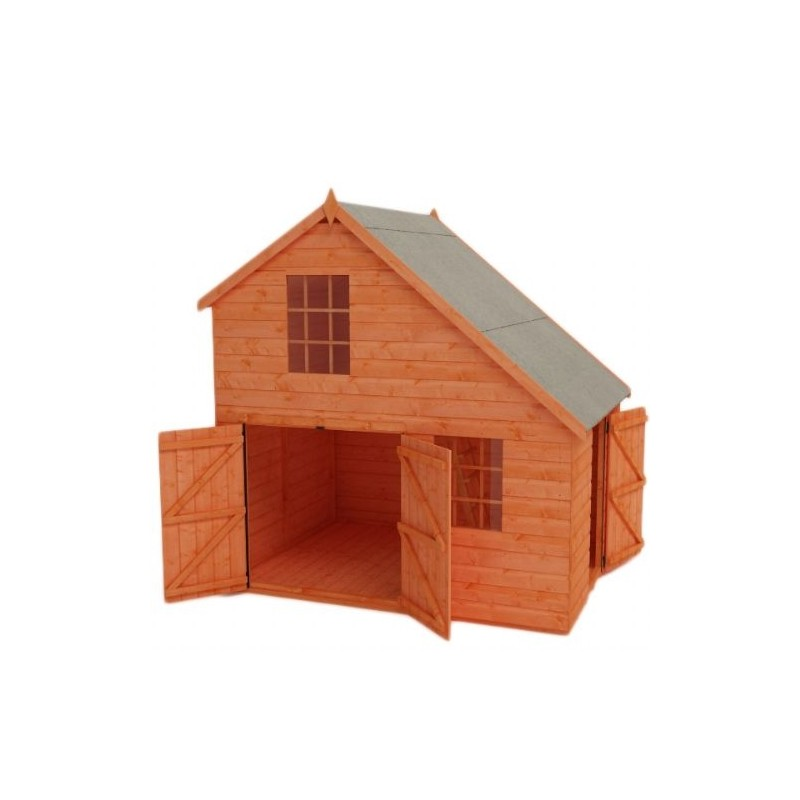 Mcl direct for best pricing on mcl sheds for Wooden playhouse with garage