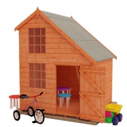 Childrens 6X6 Magic Mansion Playhouse. Double Storey