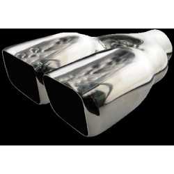 Stainless Steel Twin Square Exhaust tail Pipe