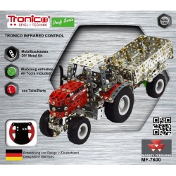 Ferguson T9541 Massey Ferguson 7600 With Trailer - Ir Controlled (427 Parts) Tronico