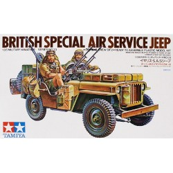 British Sas Jeep Assembly Kit Scale - 1/35Th
