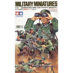 German Machine Gun Troops Assembly Kit Scale - 1/35Th