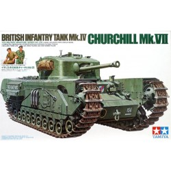 British Churchill Vii Assembly Kit Scale - 1/35Th