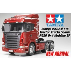 Tamiya Truck Rc Scania R620 6X4 Highline Truck Kit By Tamiya Self Build 1/14For Tamiya Rc KIT