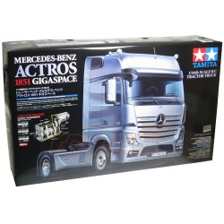 Tamiya Truck Rc Mercedes Actros 1851 Gigaspace Truck 4X2 Self Build 1/14For Tamiya Rc KIT Includes ESC Speed Controller