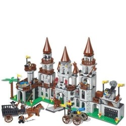 Castle - Building Set. Using Interchangeable Building Blocks