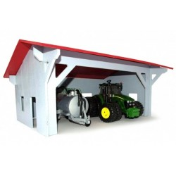 Barn Shed 1/16 Scale Ideal For Bruder Tractor Toys - Painted Timber