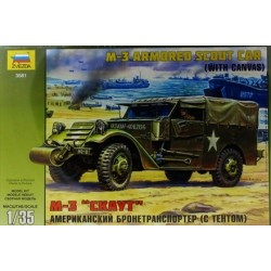 M3 Armored Scout Car With Canvas 1/35 Kit